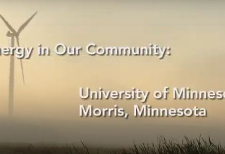 University of Minnesota Morris Clean energy Investments recognized by the U.S. Department of Energy