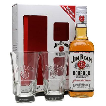 ג'ים בים לבן באריזת שי + 2 כוסות