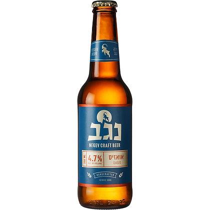 """בקבוק בירה נגב אואזיס 330 מ""""ל"""