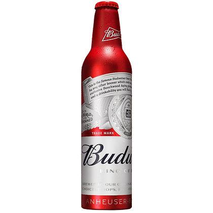 """בקבוק אלומיניום בירה באדוויזר 473 מ""""ל"""