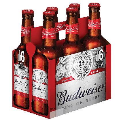 """שישיית בקבוקי בירה באדוויזר 330 מ""""ל"""