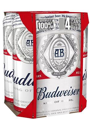 """רביעיית פחיות בירה באדוויזר 500 מ""""ל"""