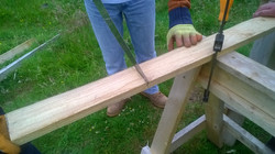 Sawing planks for the saws