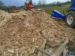 The pile of chip ready for paths