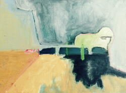streetlight where you don't  expect it oil on canvas1987  20 x 30 cm