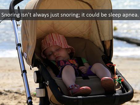 A Snoring Habit Could Mean Sleep Apnea