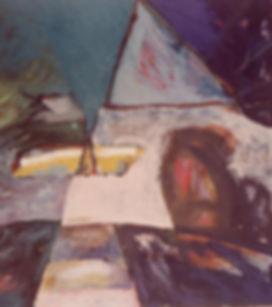 city miseries oil on canvas 1987 120x 160 cm