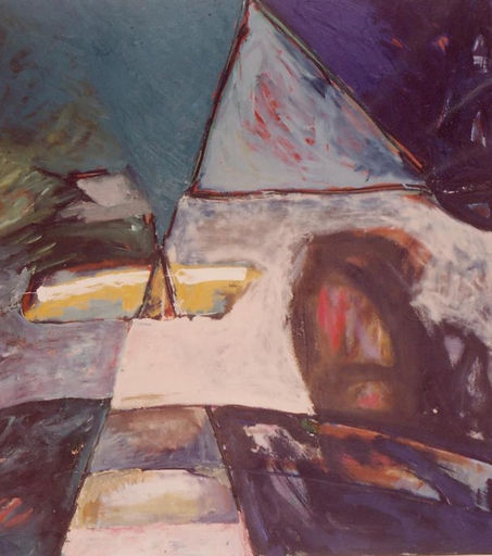 city miseries oil on canvas 1987 120x 160 cm
