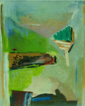 meeting cactus kate 1989  oil on canvas 45 x 60 cm