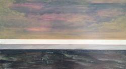 low tide on waddensea 2011 35 x 55 cm