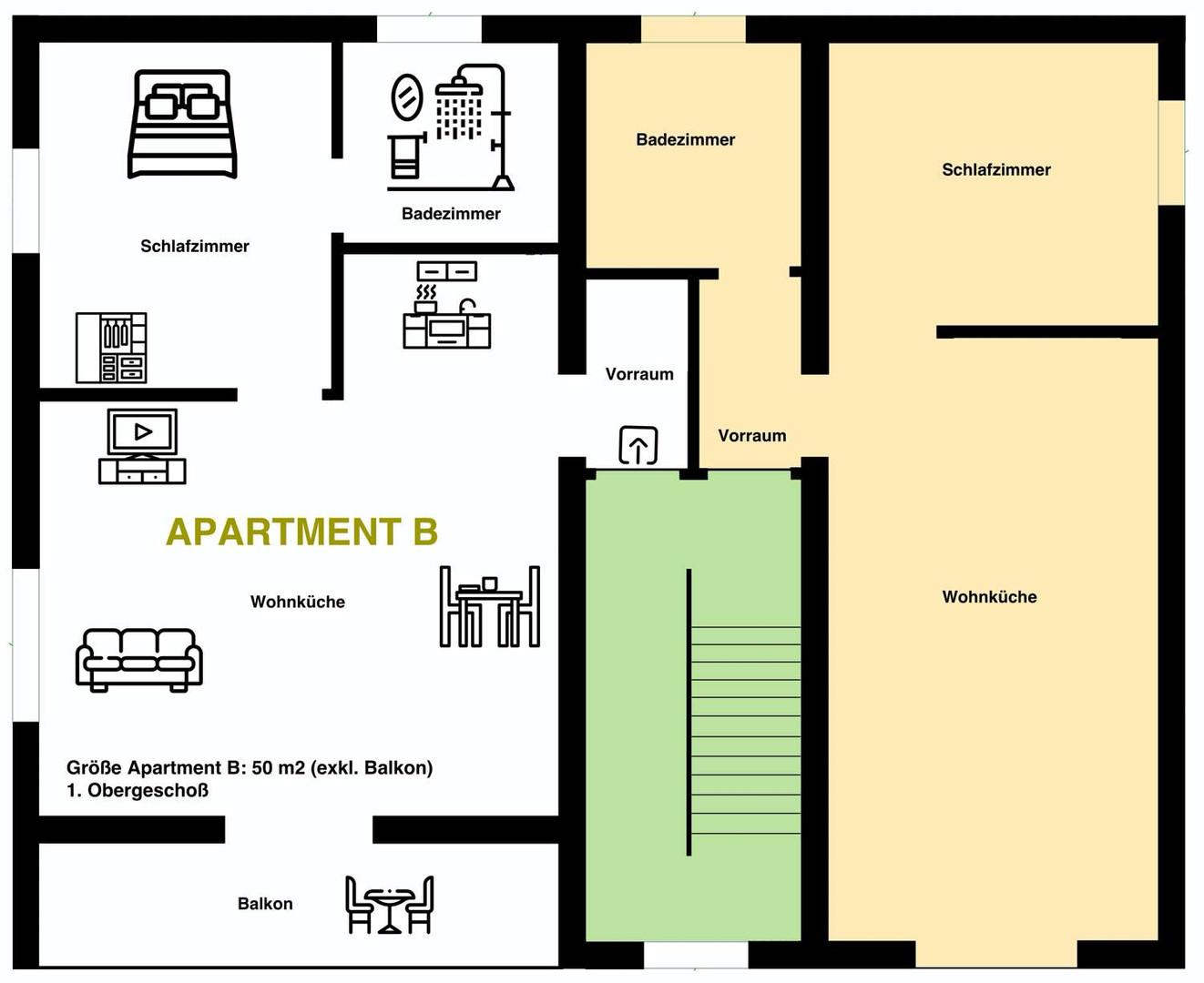 Apartment B 1.Obergeschoß