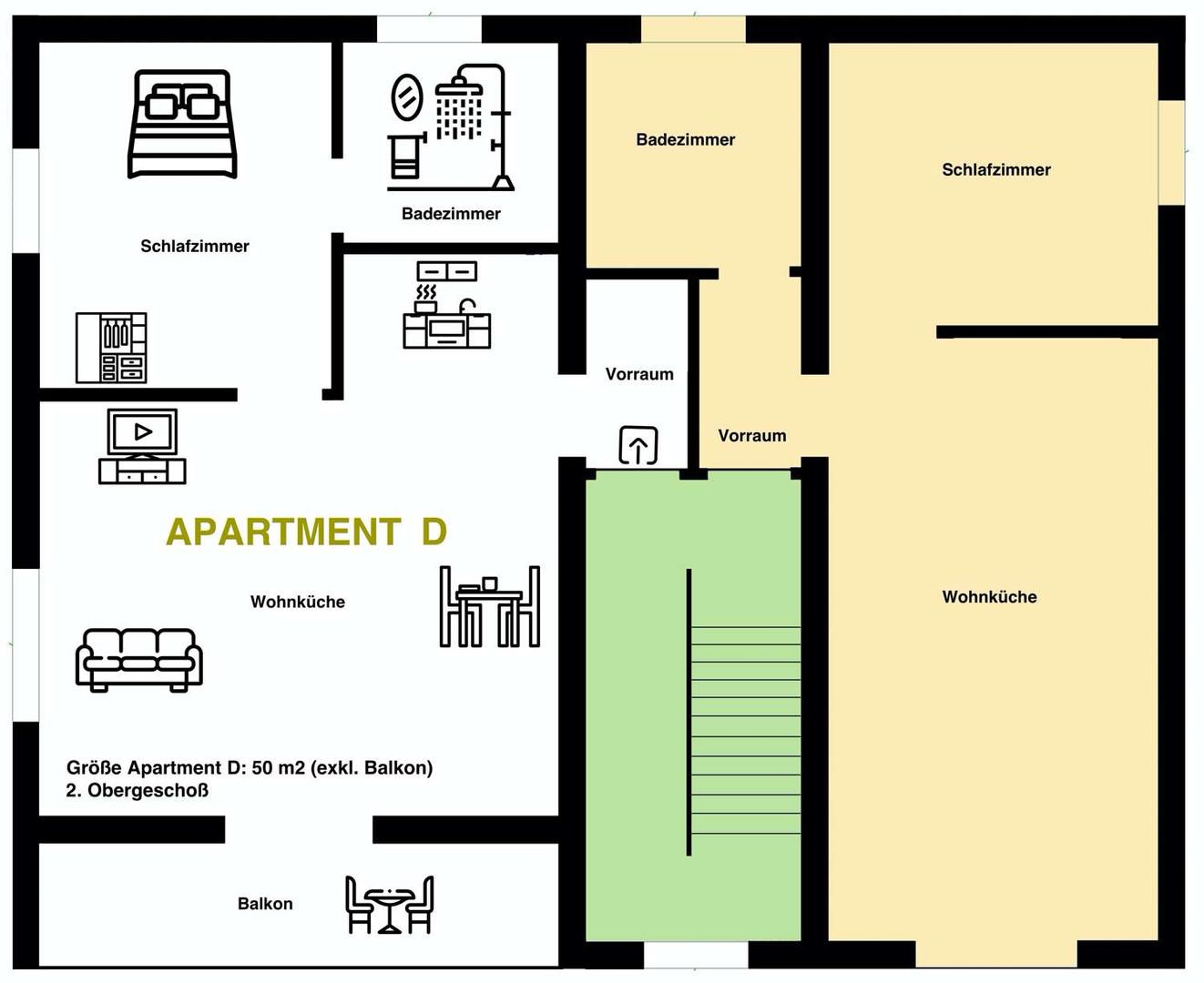 Apartment D 2.Obergeschoß