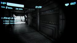 Corridor with UI On