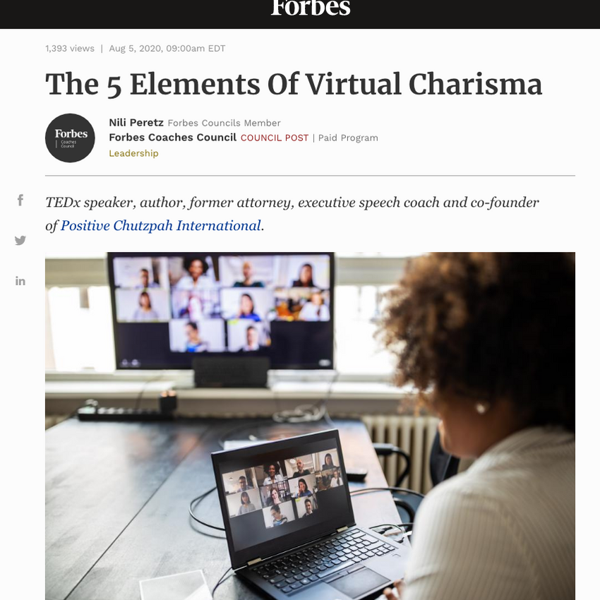 The 5 Elements Of Virtual Charisma