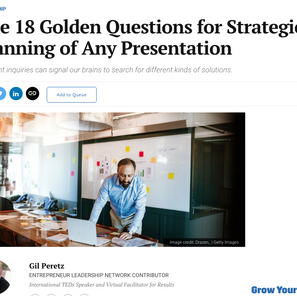 The 18 Golden Questions for Strategic Planning of Any Presentation
