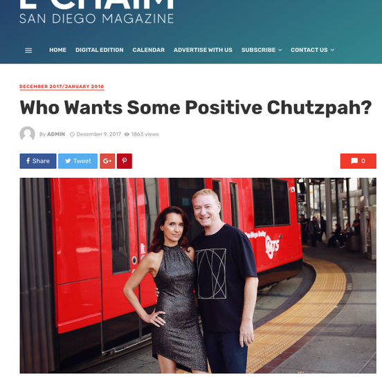 Who Wants Some Positive Chutzpah?