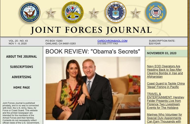 """BOOK REVIEW: """"Obama's Secrets"""""""
