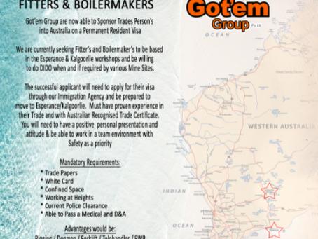 Workshop Fitters & Boilermakers