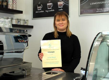 Brown Sugar barista brews excellent customer service
