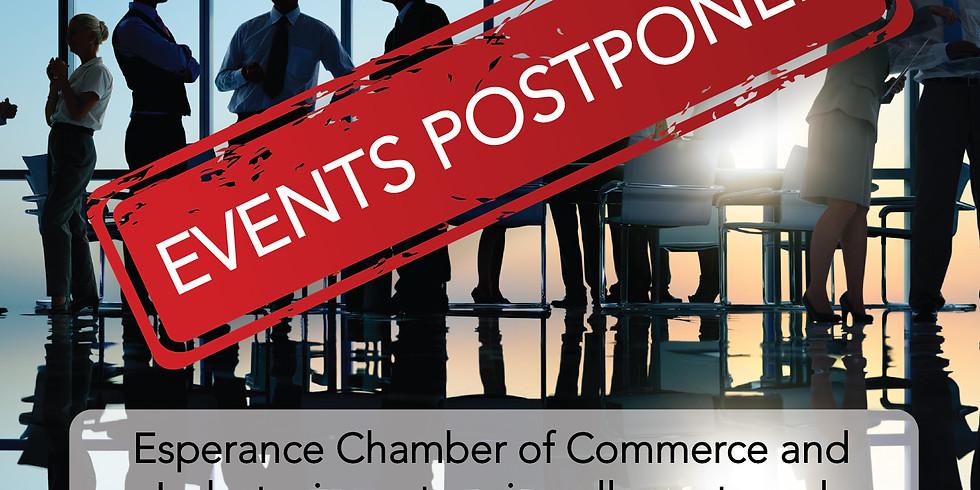 Events postponed until further notice