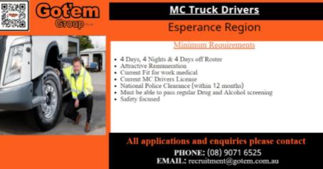 MC Truck Drivers