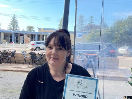July Customer Service Award
