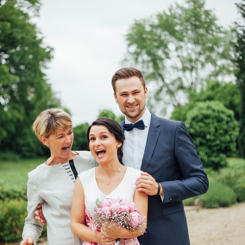 Lachen Hochzeit