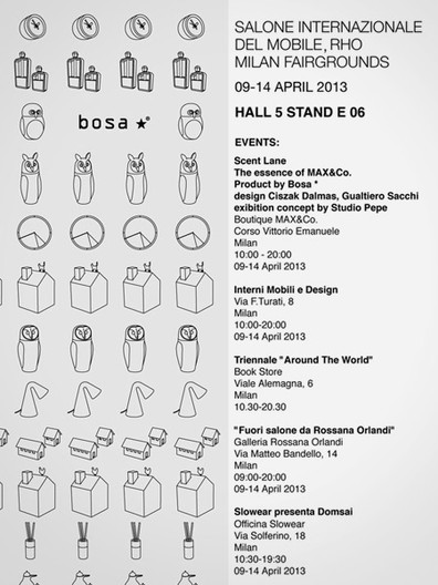NEW PROJECT FOR BOSA COLLECTION 2013   SALONE DEL MOBILE