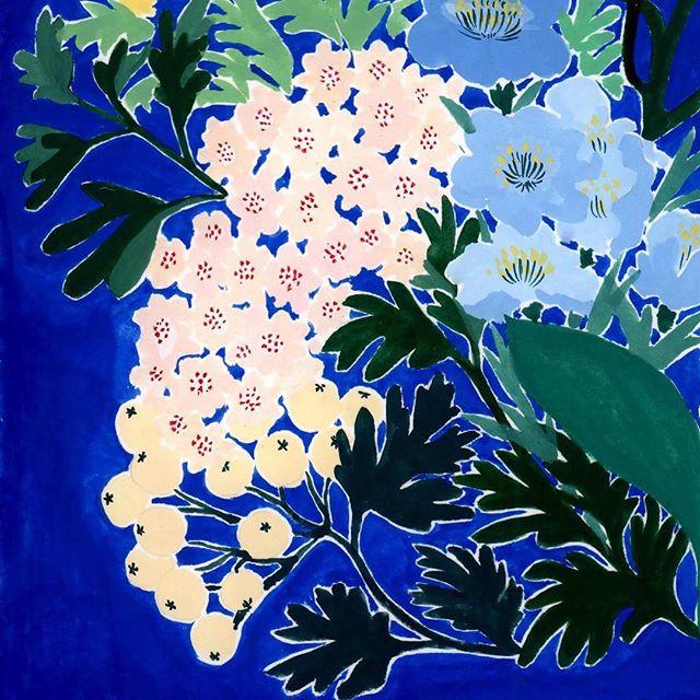 Fleurs du soir - détail _Original gouach
