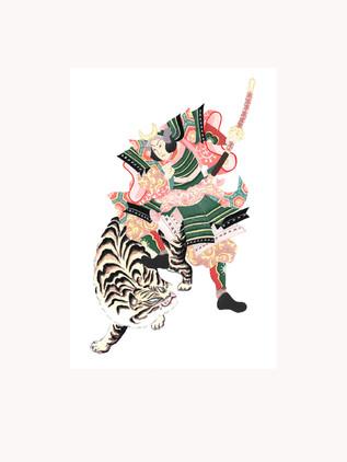 Samouraï tigre crème .jpg