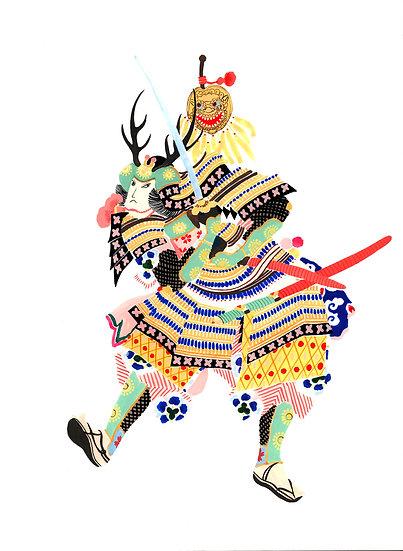affiche samouraï japonais