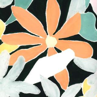 """""""motif fleurs sur fond noir"""""""