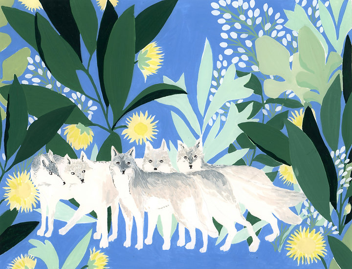 peinture loups