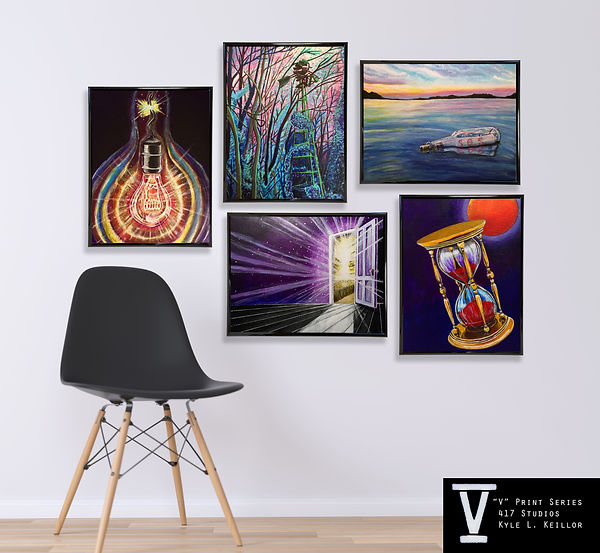 V series Display Paintings