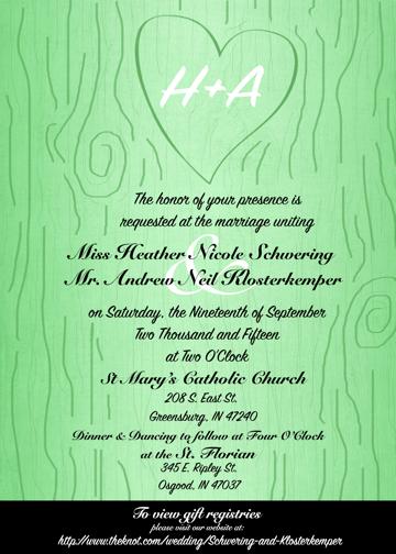 H & A Wedding Invite