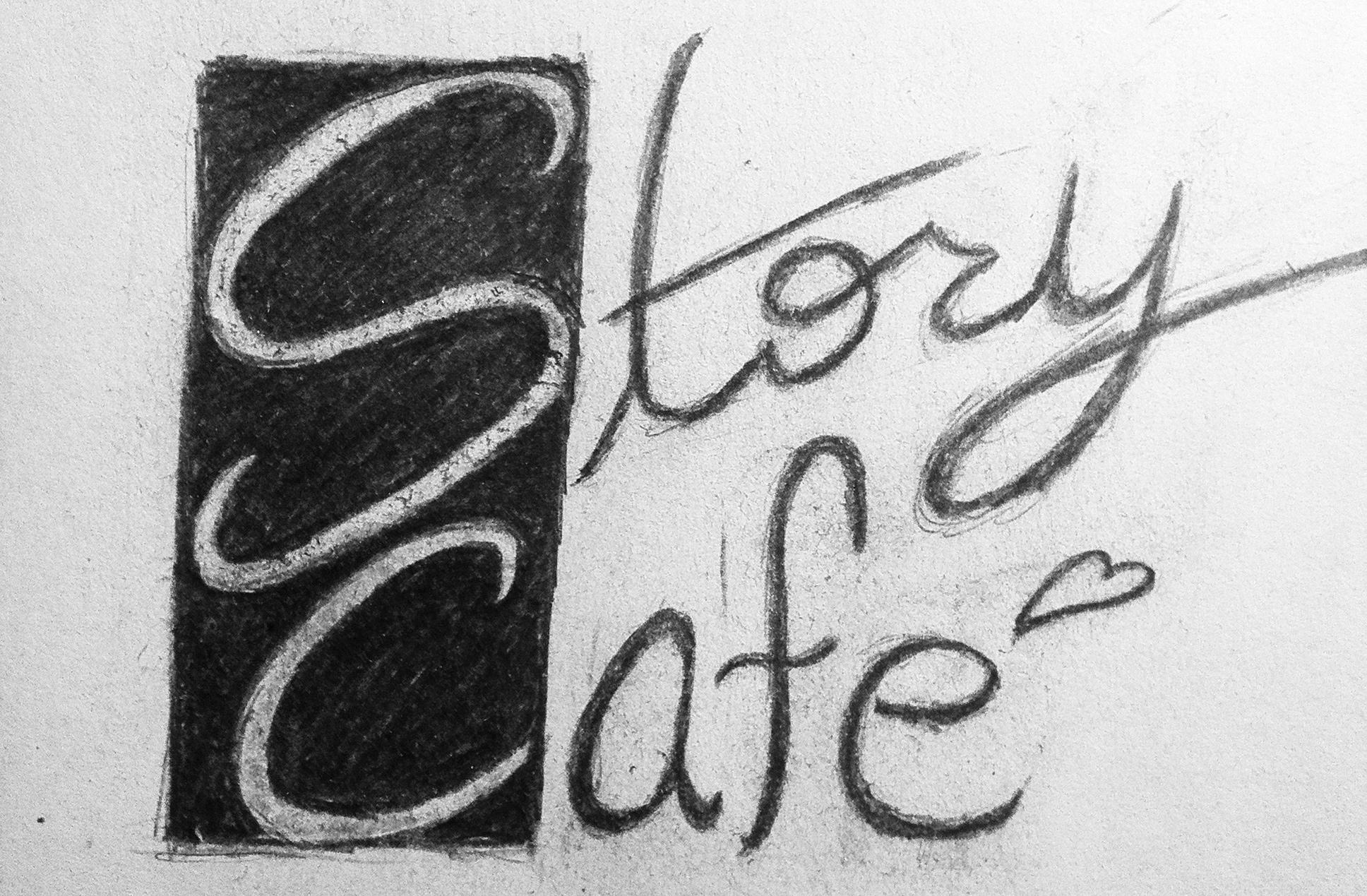 Story Cafe Logo Sketch