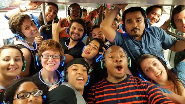 Subway Silent Disco Party