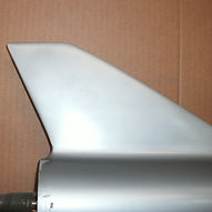 skeg welded and painted