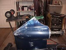 skeg before repair
