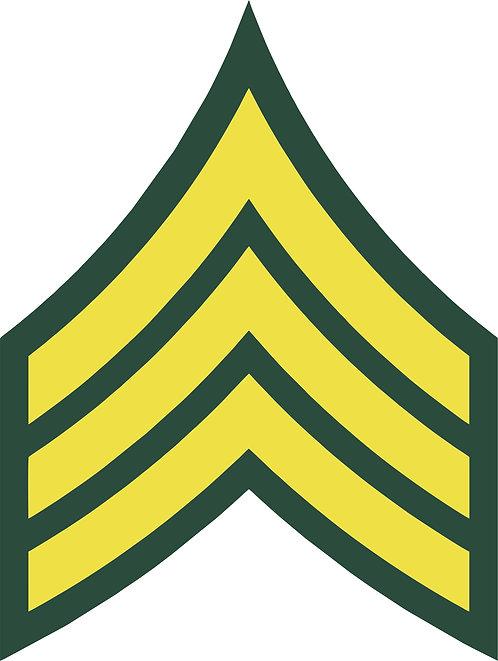 Sergeant E-5 Decal