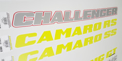 Challenger Windshield Graphics