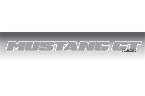 Mustang GT Platinum - Gray and White Windshield Graphic