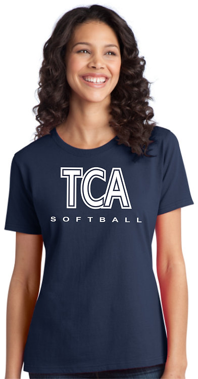 TCA Spirit Wear Ladies Navy Shirt - LPC150