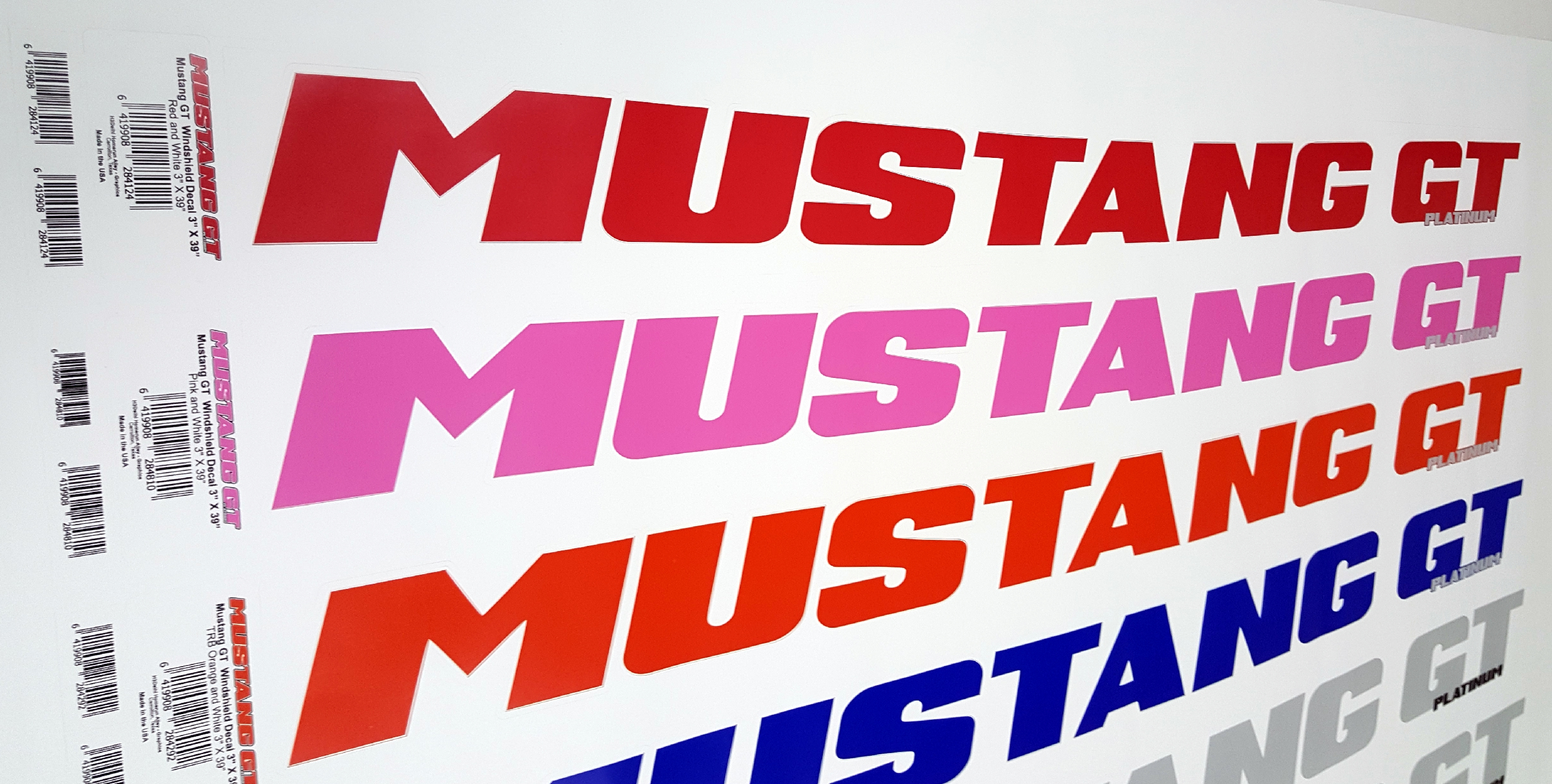 Mustang Windshield Graphics