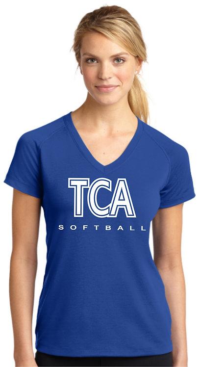 TCA Spirit Wear Ladies Royal Shirt - LST700