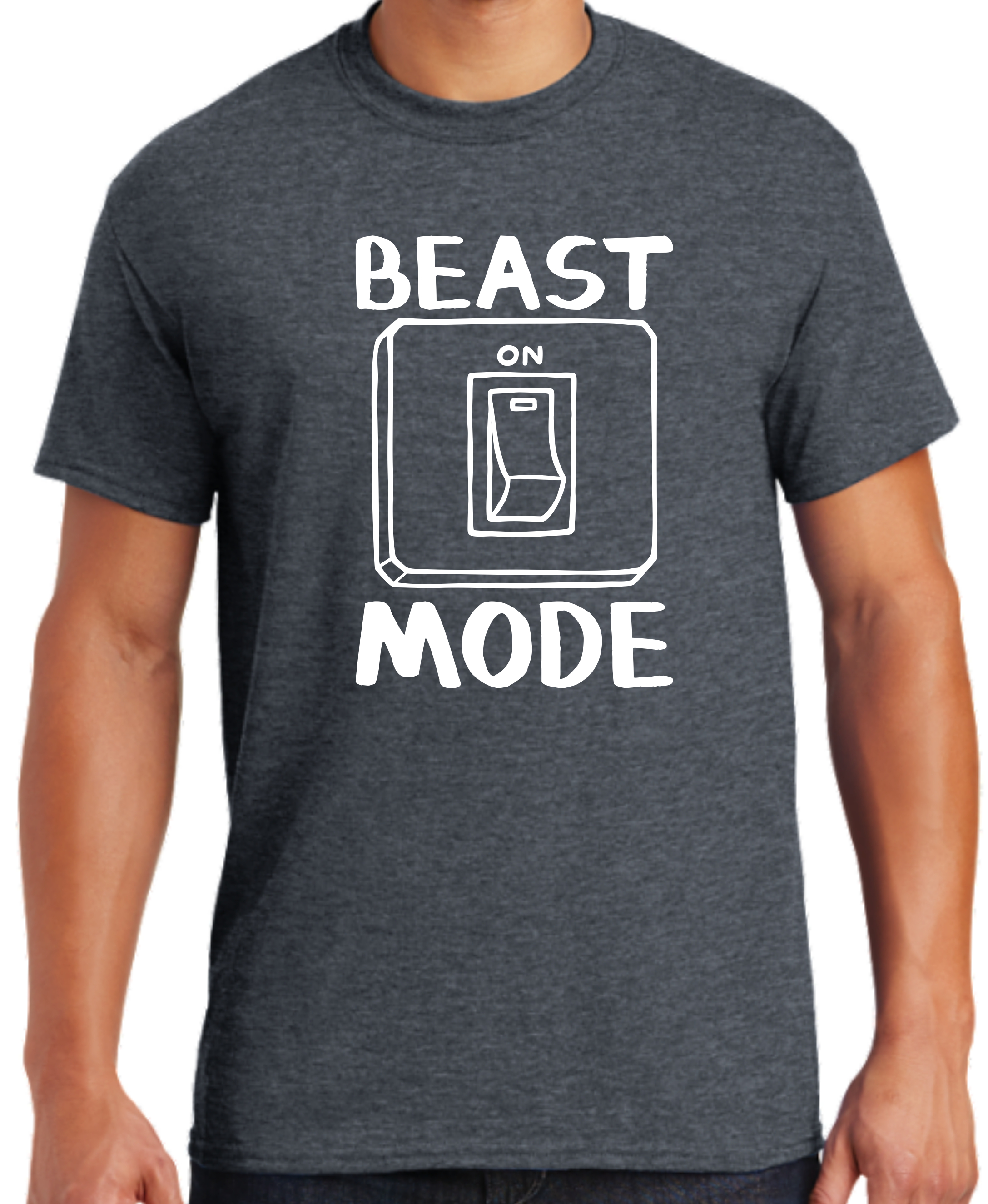 106-61617 - beast mode - DARK HEATHER