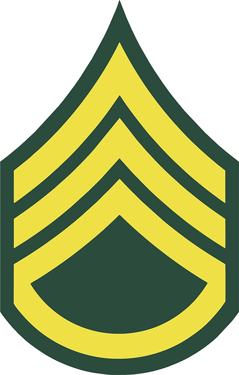 Staff Sergeant E-6 Decal