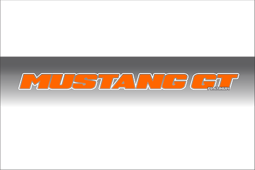 Mustang GT Platinum - TRB Orange and White Windshield Graphic