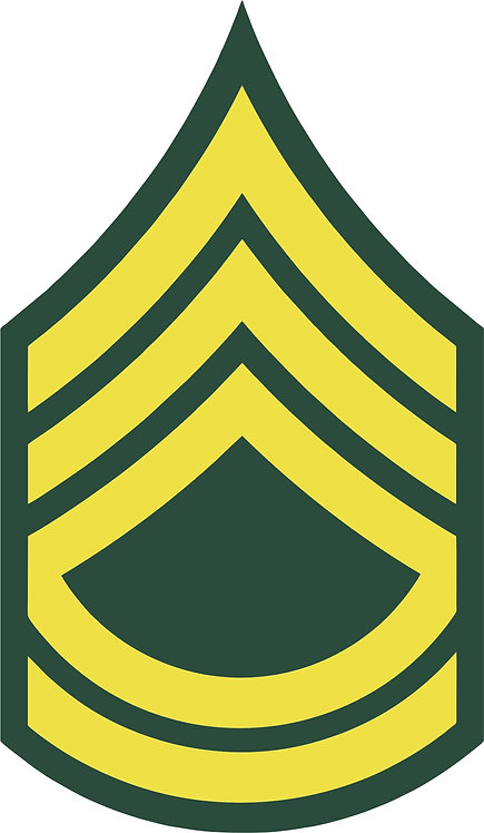 Sergeant First Class E-7 Decal