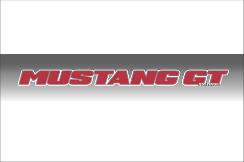 Mustang GT Platinum - Red and White Windshield Graphic